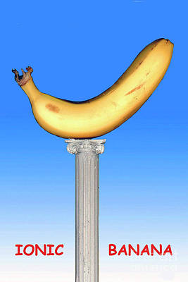 Poster featuring the mixed media Ionic Banana by Bill Thomson