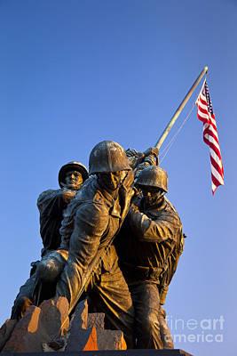 Iwo Jima Memorial Poster by Brian Jannsen