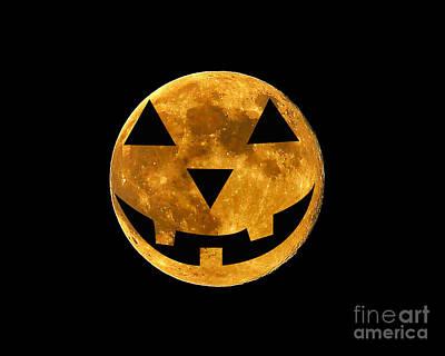 Jack-o-lantern Moon Poster by Al Powell Photography USA
