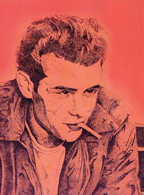 James Dean Poster by Debbie McIntyre