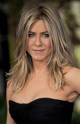 Jennifer Aniston At Arrivals For Just Poster by Everett