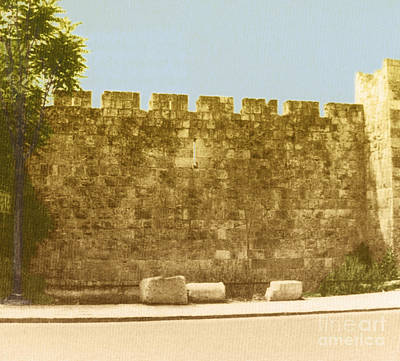 Jerusalem City Wall, Historic Site Poster by Photo Researchers