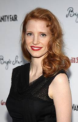 Jessica Chastain At Arrivals For Bright Poster by Everett