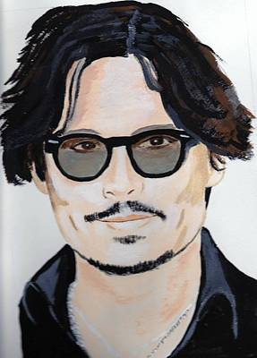 Poster featuring the painting Johnny Depp 4 by Audrey Pollitt
