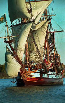 Kalmar Nyckel Under Sail Poster by Skip Willits