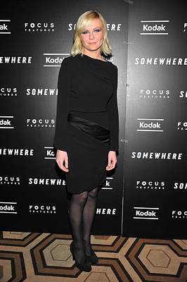 Kirsten Dunst At Arrivals For Somewhere Poster by Everett