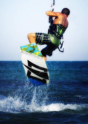 Kitesurfer Poster by Stelios Kleanthous