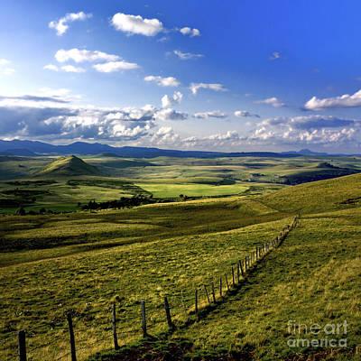 landscape of Cezallier. Auvergne. France Poster by Bernard Jaubert