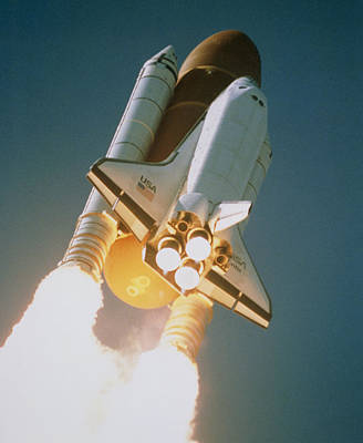 Launch Of Shuttle Atlantis On Sts-34 Poster by Nasa