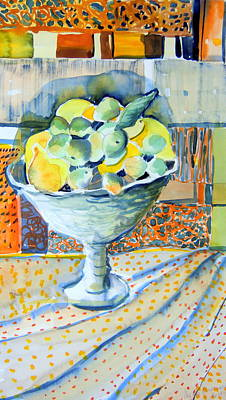 Lemon Lime Abstract Poster