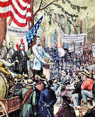 Lincoln-douglas Debate Poster by Granger