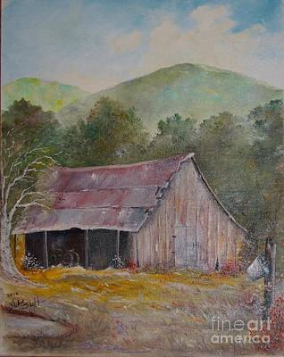 Linda's Barn Poster by Vickie Shelton