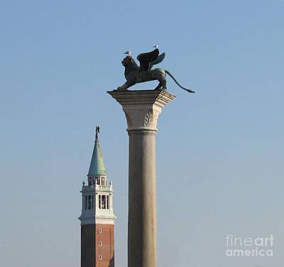 Lion Of Venice Poster by Bernard Jaubert