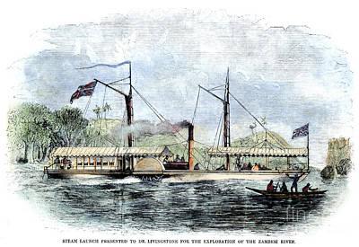 Livingstone: Steam Launch Poster by Granger