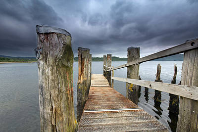Loch Etive Jetty Poster by Fiona Messenger