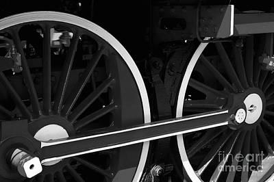Locomotive Wheels Poster by Dariusz Gudowicz