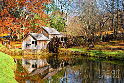 Mabry Mill Poster by Ronald Lutz