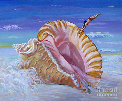 Magic Conch Shell Poster