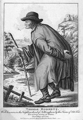 Man With Cane, C1795 Poster