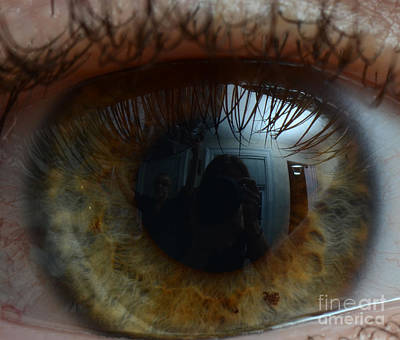 Mans Eye Poster by Photo Researchers, Inc.