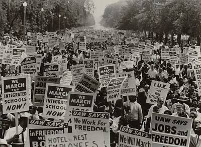 March On Washington. African Americans Poster by Everett
