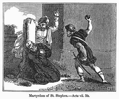 Martyrdom Of St. Stephen Poster by Granger
