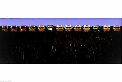 Poster featuring the photograph Mass Transit by Michael Nowotny