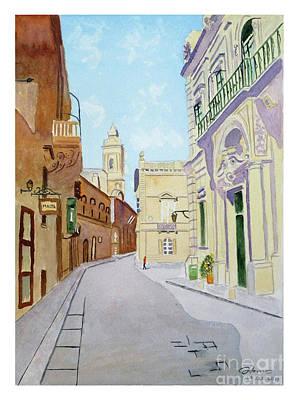 Mdina Streetscape Poster