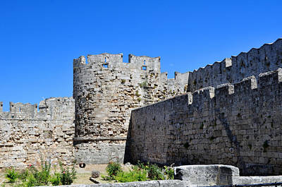 Medieval Fortress Of Rhodes. Poster