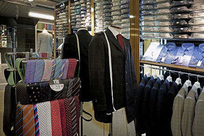 Menswear On Display At A Clothes Shop Poster