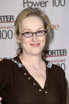 Meryl Streep At Arrivals For The Poster by Everett