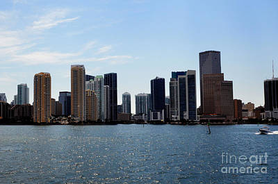 Poster featuring the photograph Miami Skyline by Pravine Chester