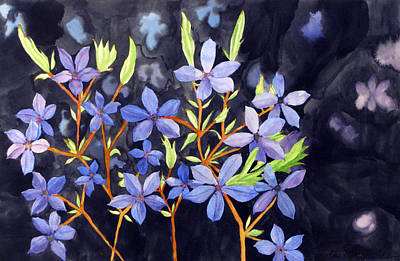 Poster featuring the painting Midnight Blue by Debi Singer