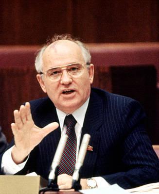 Mikhail Gorbachev During His Presidency Poster by Everett