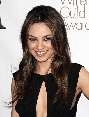 Mila Kunis At Arrivals For 2010 Writers Poster by Everett