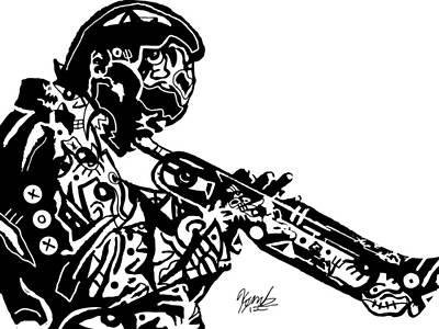 Miles Davis By Kamoni-khem Poster by Kamoni Khem
