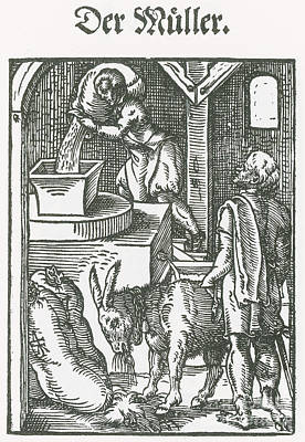Millers, Medieval Tradesmen Poster by Science Source