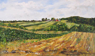 Poster featuring the painting Milligan's Farm by George Richardson