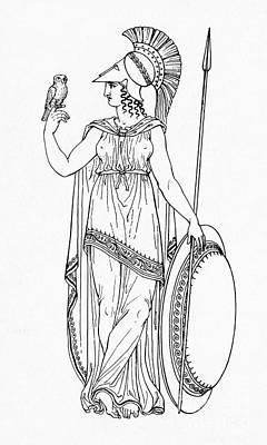 Minerva, Roman Goddess Of Medicine Poster by Photo Researchers