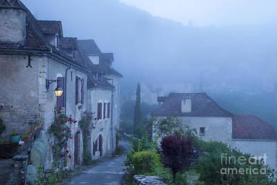 Misty Dawn In Saint Cirq Lapopie Poster by Brian Jannsen