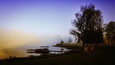 Misty Morning On Lake Jaunita Poster