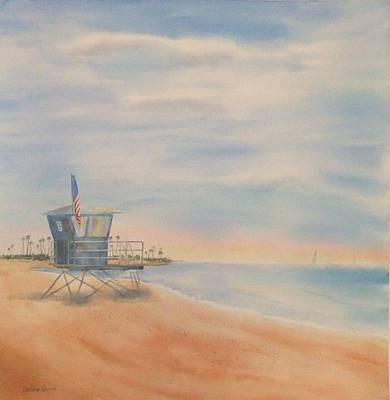 Morning By The Beach Poster by Debbie Lewis