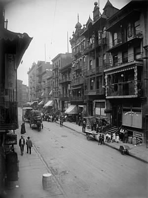 Mott Street In New York Citys Chinatown Poster