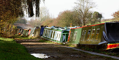 Narrow Boats Poster by David Harding