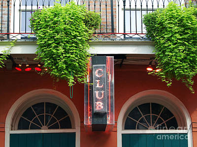 Neon Club Sign Bourbon Street Corner French Quarter New Orleans  Poster by Shawn O'Brien