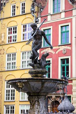 Neptune Fountain In Gdansk Poster by Artur Bogacki