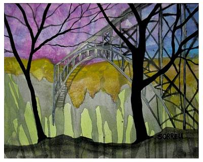 Poster featuring the painting New River George Bridge by Amy Sorrell