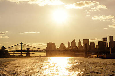 New York City Sunset Poster by Vivienne Gucwa