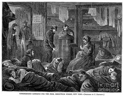 New York: Poverty, 1869 Poster by Granger