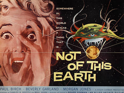Not Of This Earth, Beverly Garland Poster by Everett